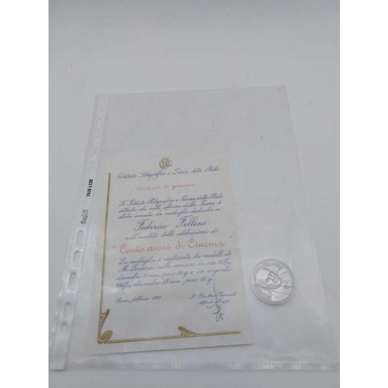 MEDAGLIA FEDERICO FELLINI 100 ANNI DI CINEMA   Mercatino dell'Usato Roma zona marconi 1