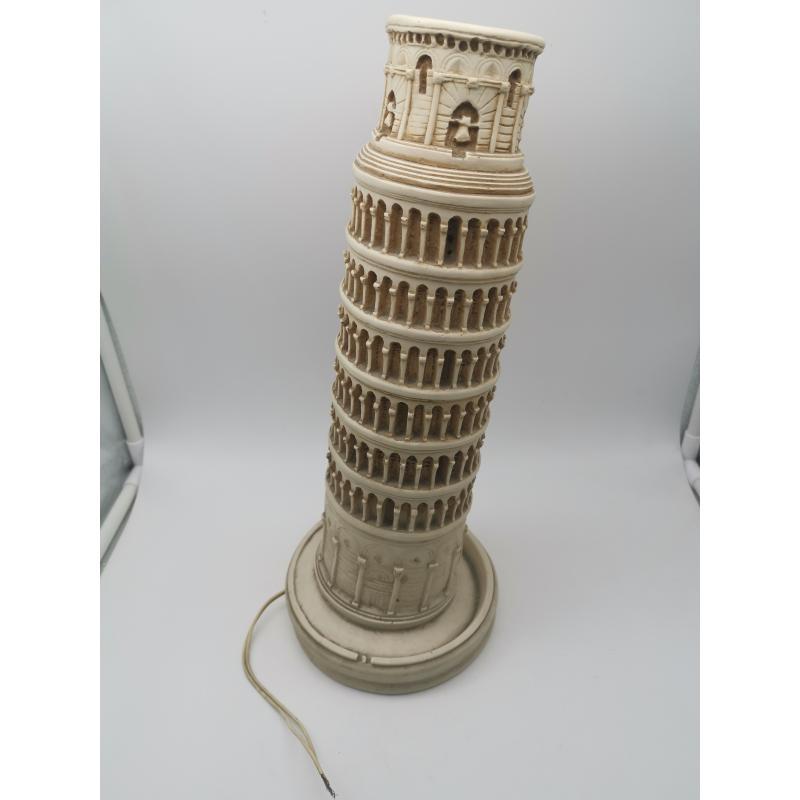 LAMPADA RESINA TORRE DI PISA IMPIANTO DA RIFARE   Mercatino dell'Usato Roma zona marconi 1
