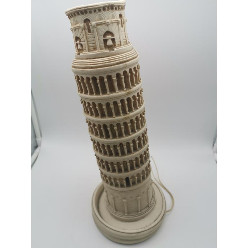 LAMPADA RESINA TORRE DI PISA IMPIANTO DA RIFARE   Mercatino dell'Usato Roma zona marconi 2