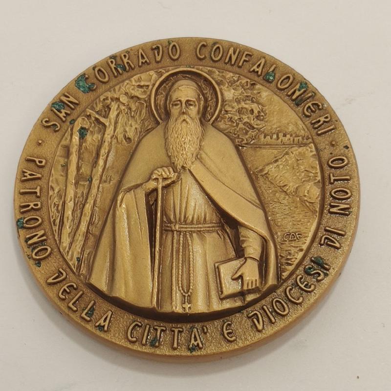 MEDAGLIA VII CENTENARIO DELLA NASCITA SAN CORRADO CONFALONIERI   Mercatino dell'Usato Roma porta maggiore 1