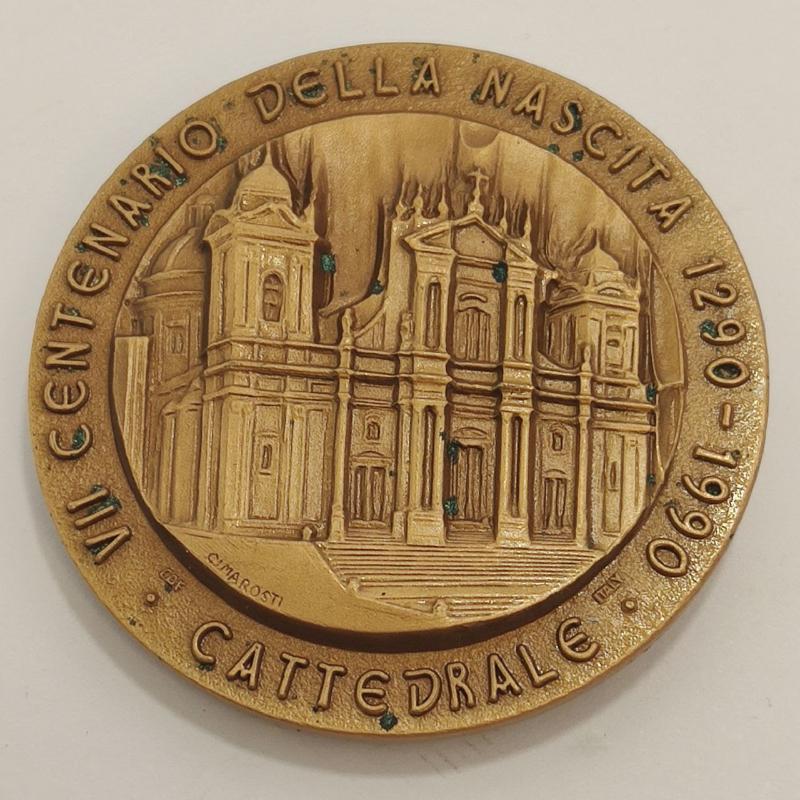 MEDAGLIA VII CENTENARIO DELLA NASCITA SAN CORRADO CONFALONIERI   Mercatino dell'Usato Roma porta maggiore 2