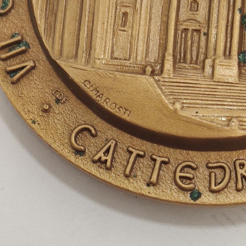 MEDAGLIA VII CENTENARIO DELLA NASCITA SAN CORRADO CONFALONIERI   Mercatino dell'Usato Roma porta maggiore 3