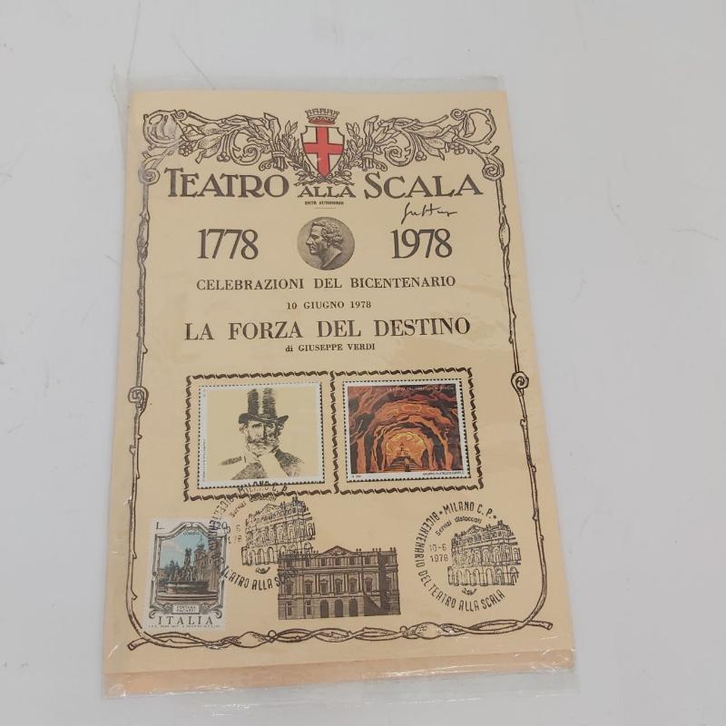 COPPIA FOLDERINI CELEBRAZIONI BICENTENARIO TEATRO ALLA SCALA 1978 AUTOGRAFO | Mercatino dell'Usato Roma porta maggiore 1