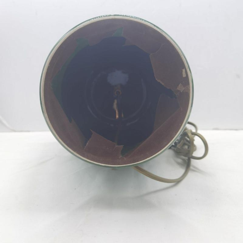 LAMPADA CERAMICA RIGATA VERDE    Mercatino dell'Usato Roma porta maggiore 4