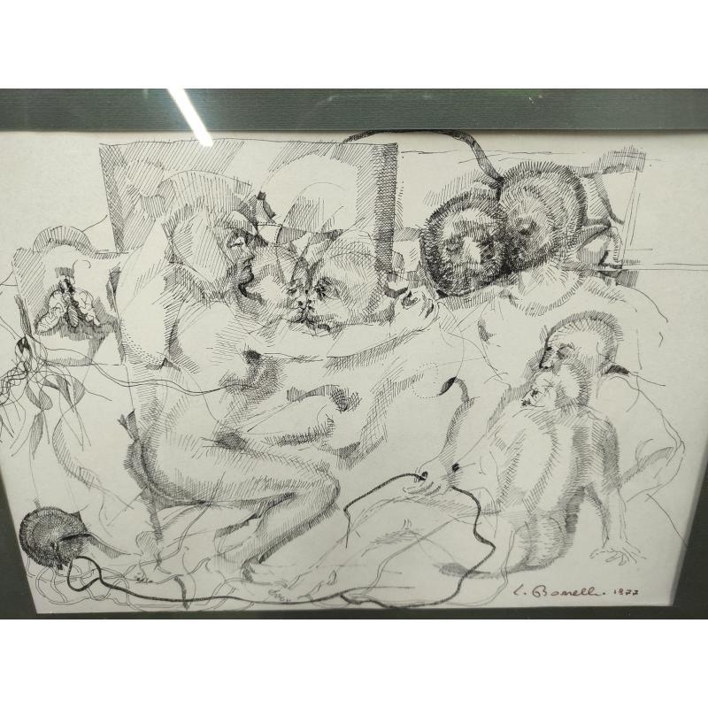 LITOGRAFIA A FIRMA BORRELLI 77    Mercatino dell'Usato Roma monteverde 2