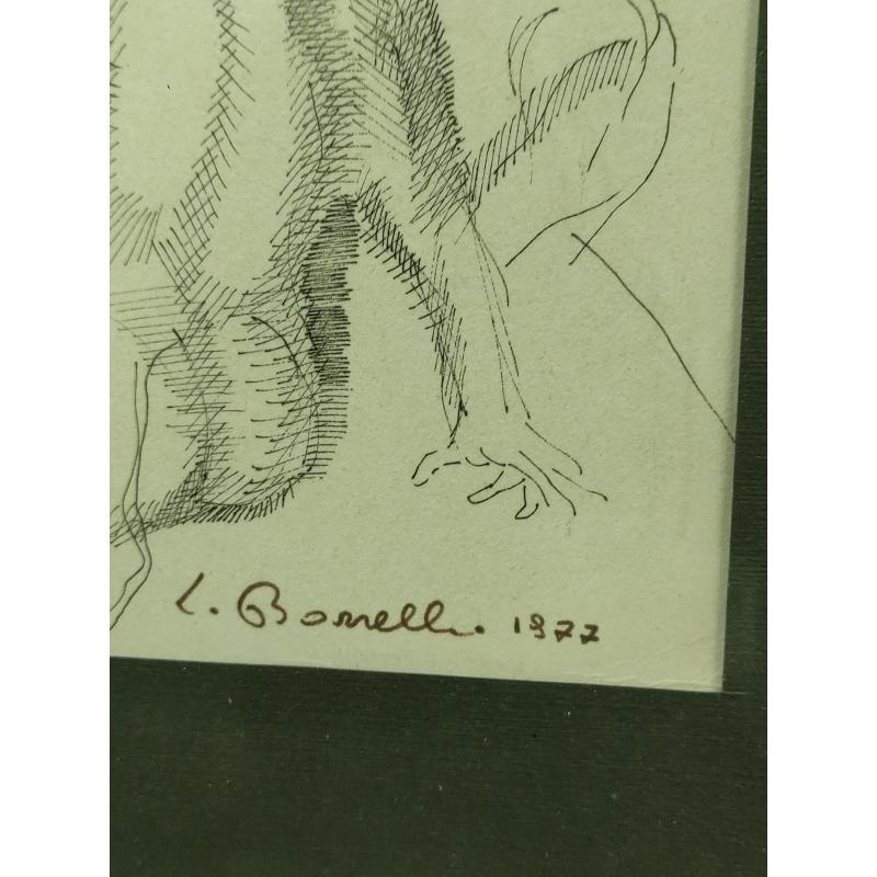 LITOGRAFIA A FIRMA BORRELLI 77    Mercatino dell'Usato Roma monteverde 3