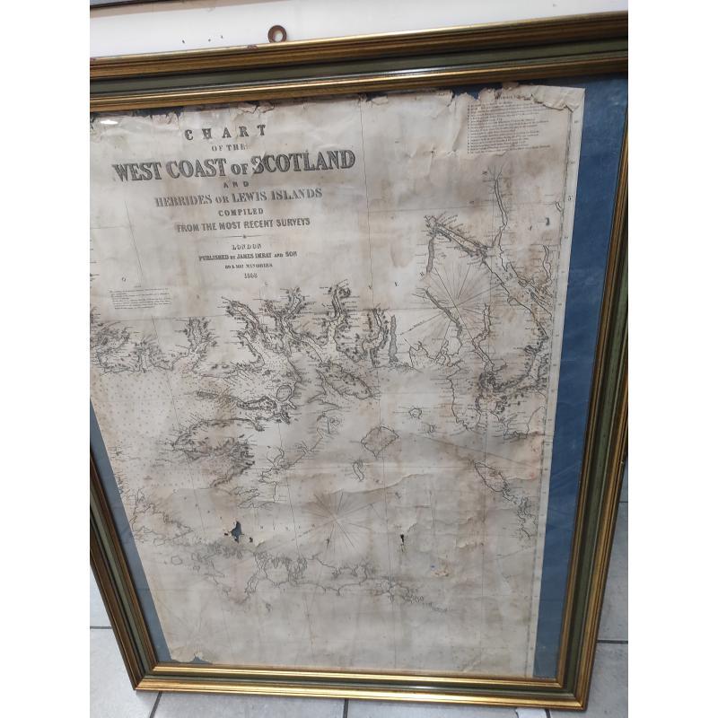 MAPPA WEST COST OF SCOTLAND+CORNICE | Mercatino dell'Usato Roma monteverde 1