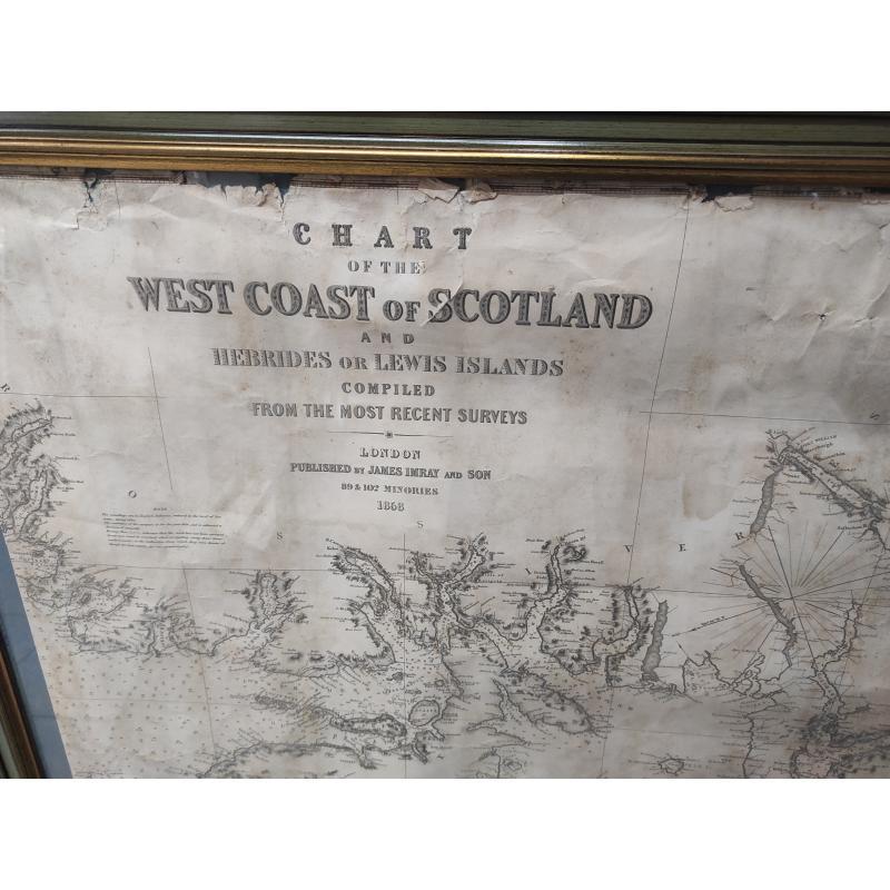 MAPPA WEST COST OF SCOTLAND+CORNICE | Mercatino dell'Usato Roma monteverde 2
