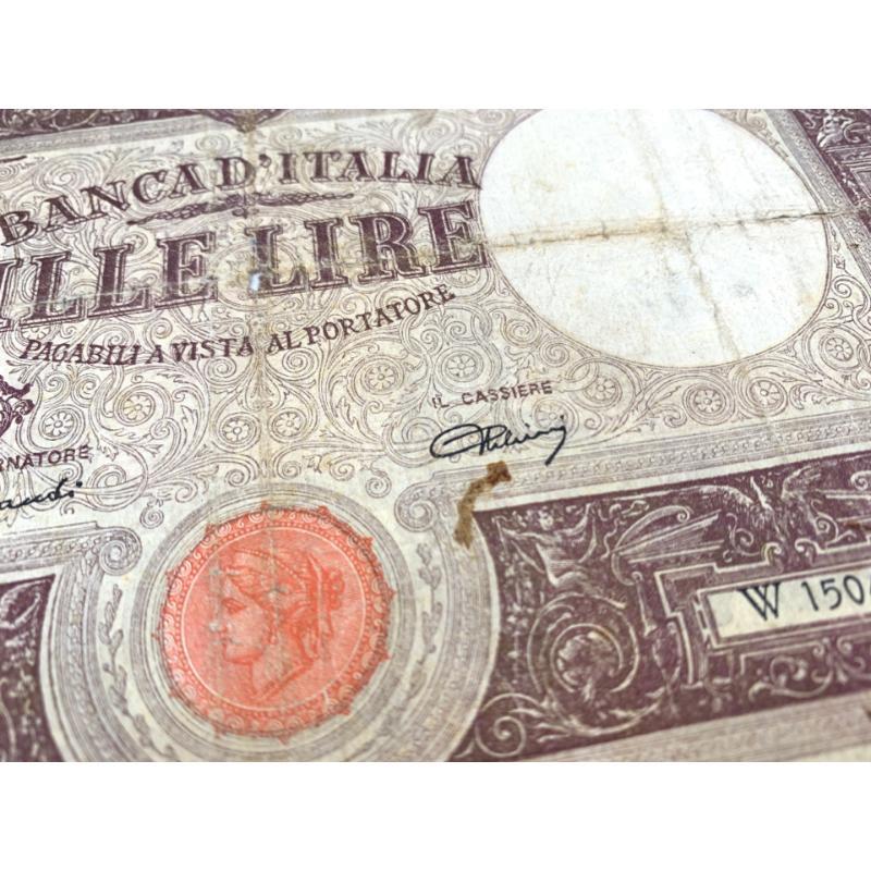 MILLE LIRE DECRETO MINISTERIALE 1943 | Mercatino dell'Usato Roma montemario 3