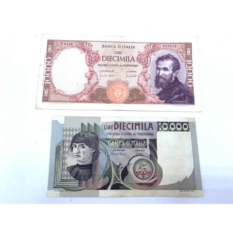 COPPIA BANCONOTE DA 10000 LIRE | Mercatino dell'Usato Roma montemario 1