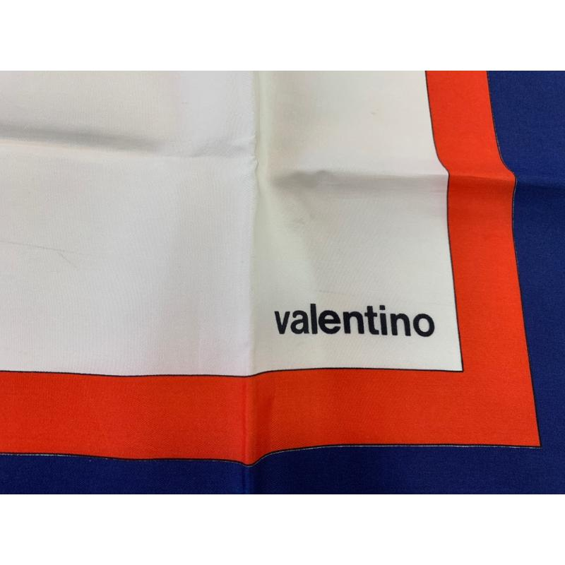 FOULARD VALENTINO VINTAGE BORDO BLU FIORI GIALLI | Mercatino dell'Usato Roma montemario 2