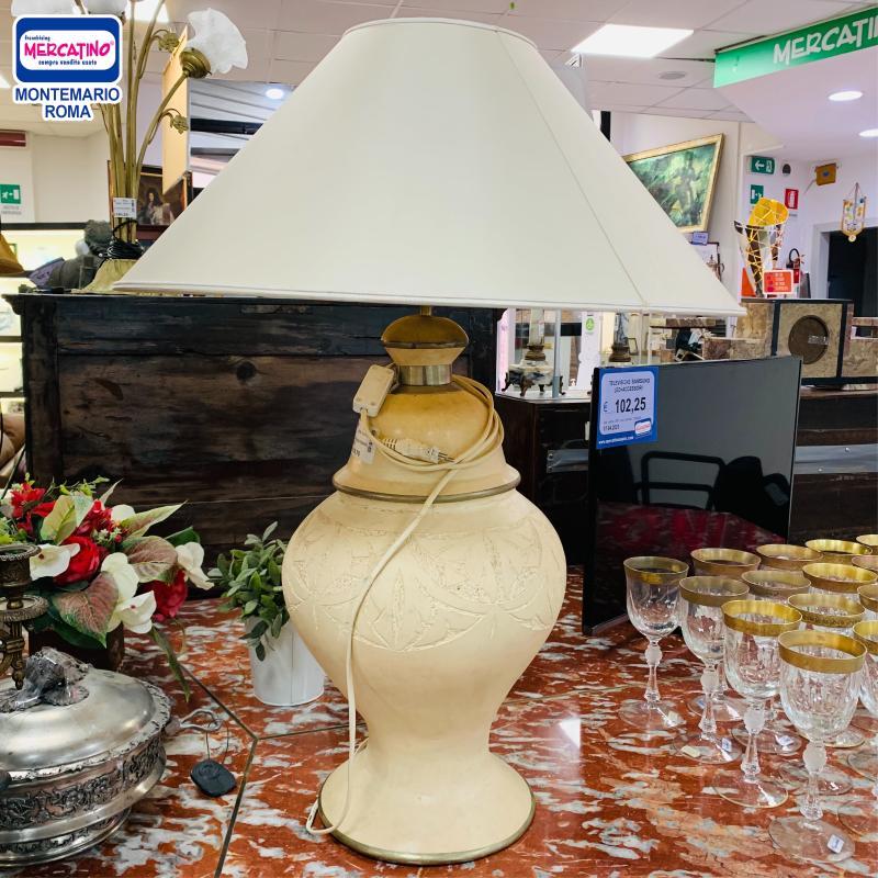 LAMPADA GRANDE TERRACOTTA BEIGE    Mercatino dell'Usato Roma montemario 1