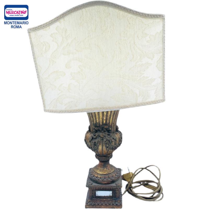 LAMPADA DORATA LEGNO SPECCHIETTI | Mercatino dell'Usato Roma montemario 1