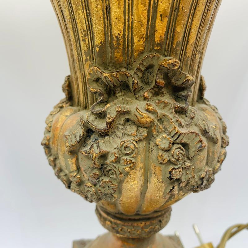 LAMPADA DORATA LEGNO SPECCHIETTI | Mercatino dell'Usato Roma montemario 4