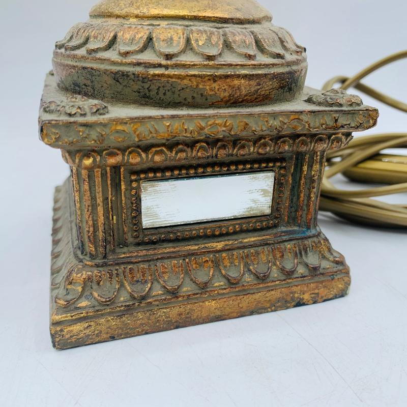 LAMPADA DORATA LEGNO SPECCHIETTI | Mercatino dell'Usato Roma montemario 5