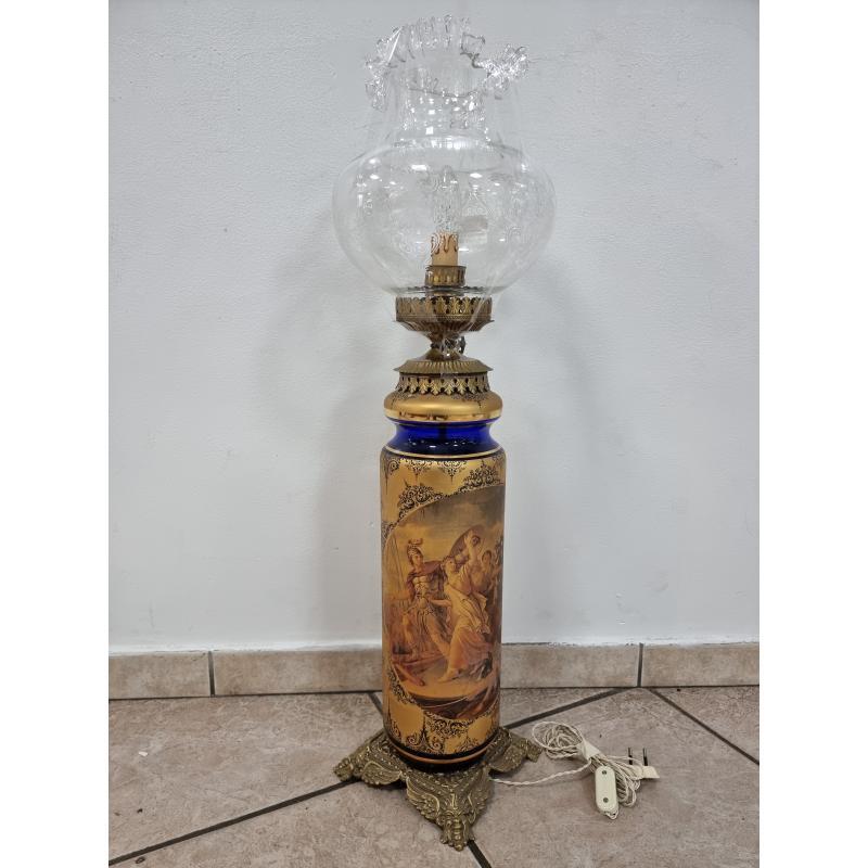 LAMPADA DA TAVOLO VETRO FOGLIA ORO   Mercatino dell'Usato Roma montemario 1