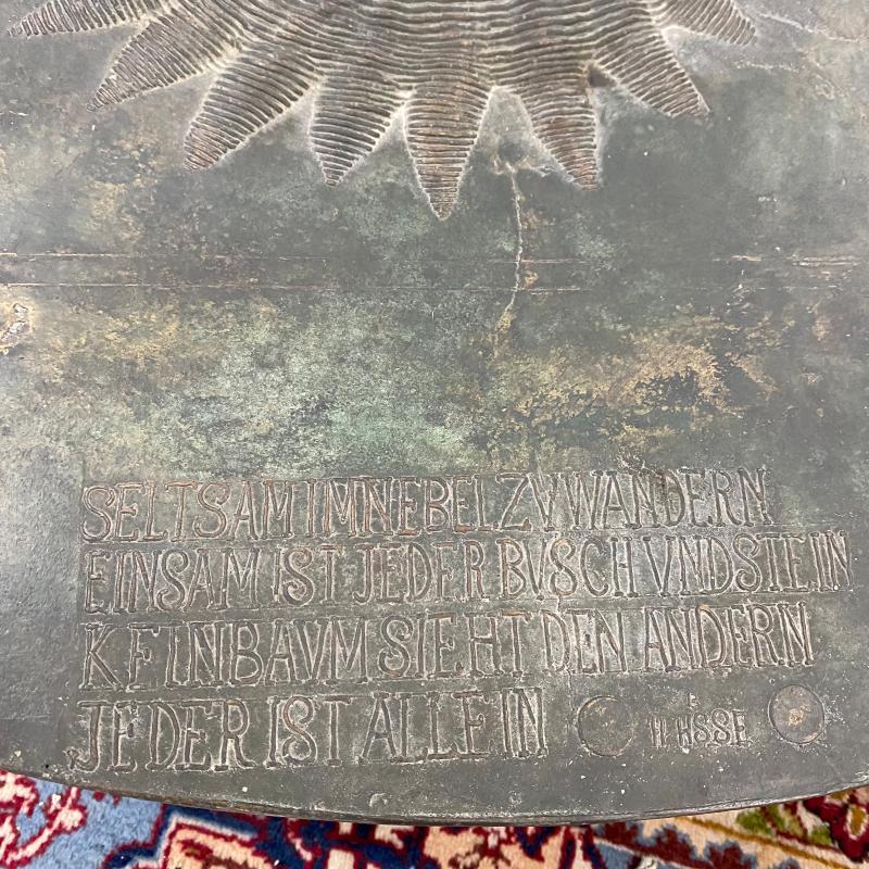 SCULTURA CIRCOLARE PAESAGGIO ATTRIB. G. POMPA | Mercatino dell'Usato Roma montemario 3