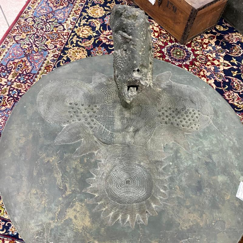 SCULTURA CIRCOLARE PAESAGGIO ATTRIB. G. POMPA | Mercatino dell'Usato Roma montemario 5