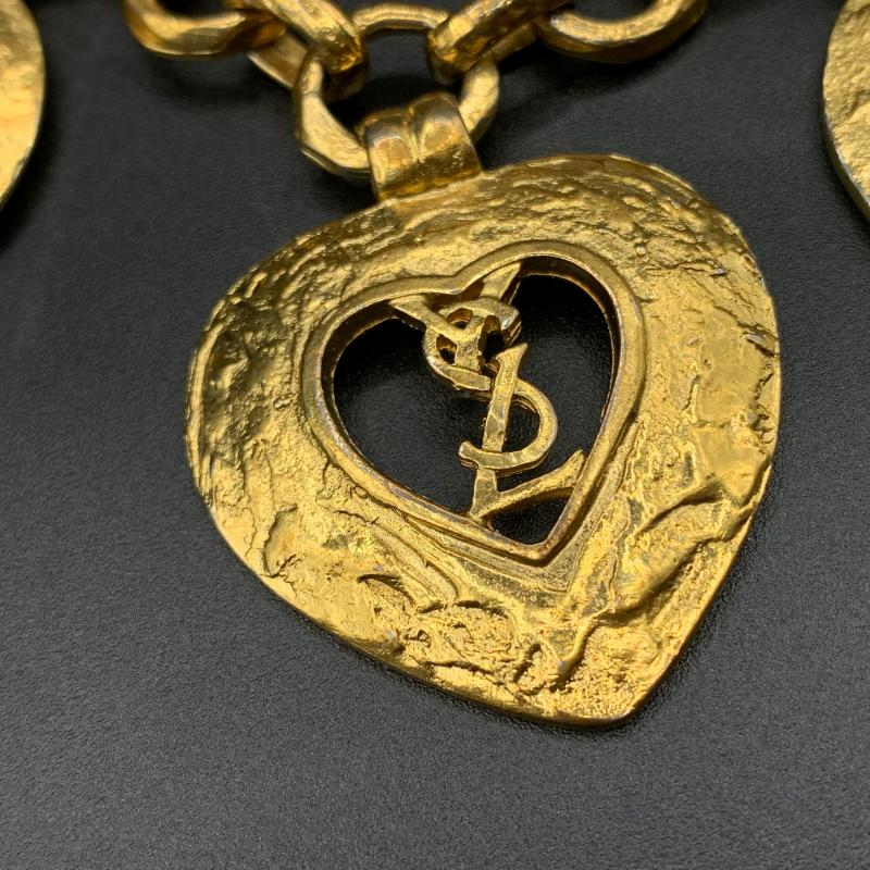 BRACCIALE DORATO YVES SAINT LAURENT 4 MEDAGLIE LOVE   Mercatino dell'Usato Roma montemario 3