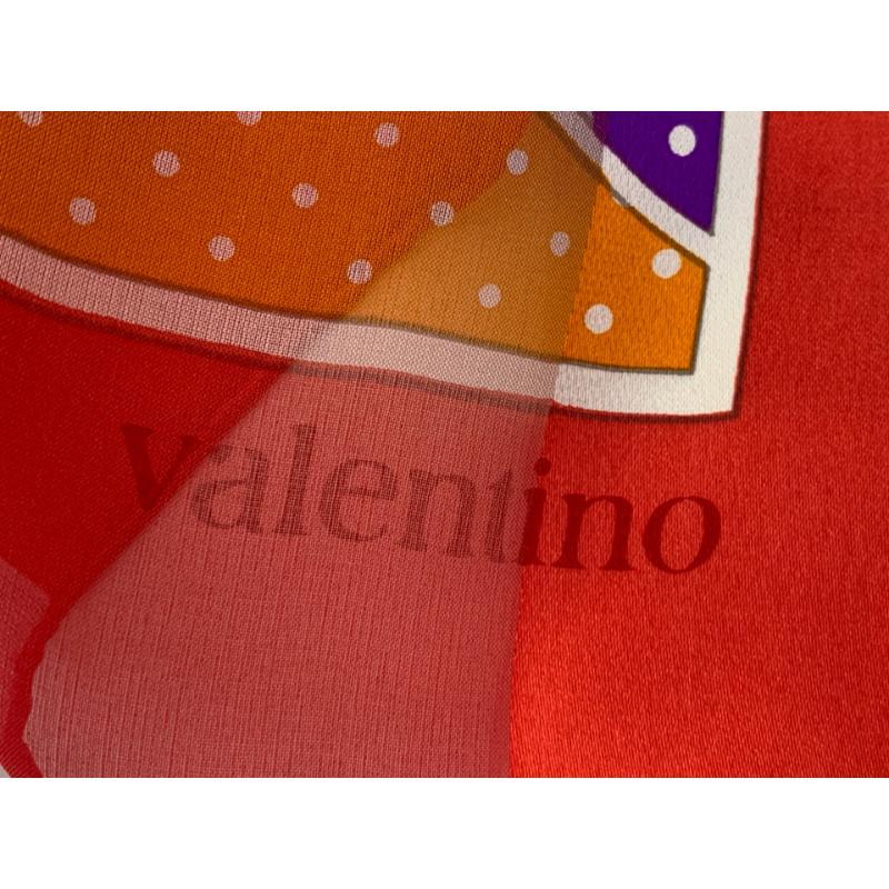 FOULARD VALENTINO POIS BORDO ROSSO | Mercatino dell'Usato Roma montemario 2