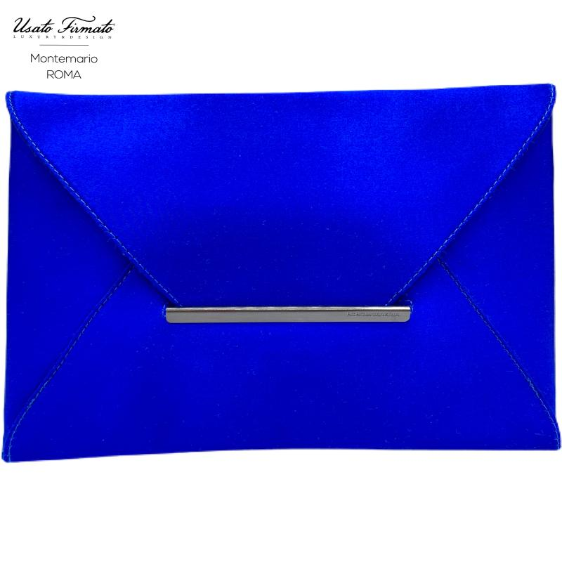 CLUTCH BAG BLU ELETTRICO BCBG MAX AZRIA | Mercatino dell'Usato Roma montemario 1