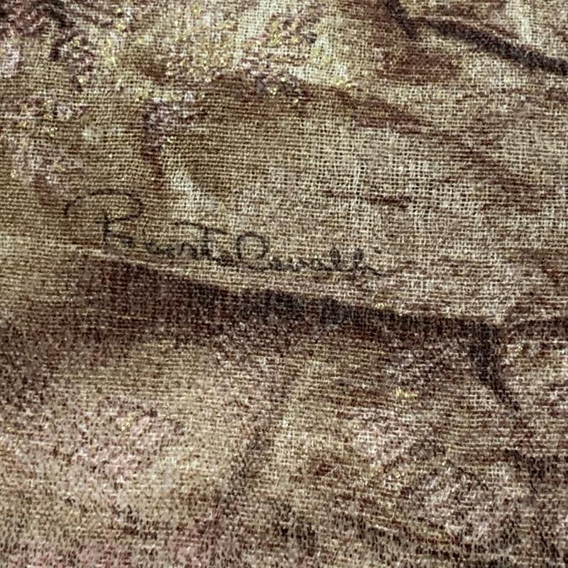 SCIARPA DONNA BEIGE ROSA DORATA NO ETICHETTA CAVALLI | Mercatino dell'Usato Roma montemario 2