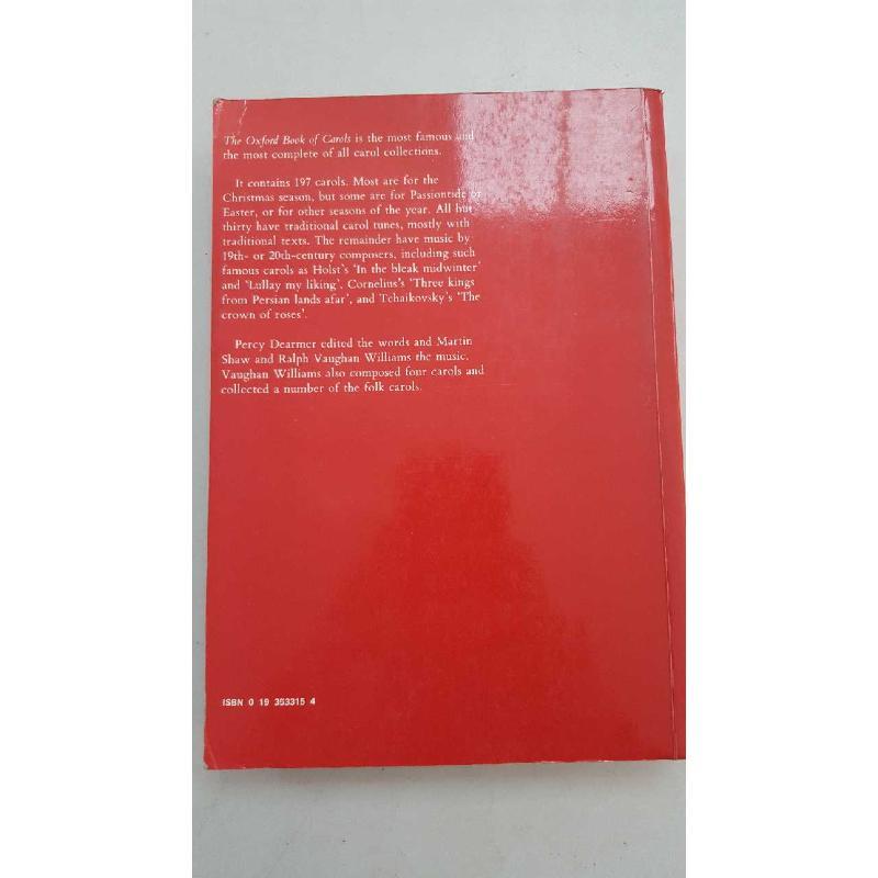 OXFORD BOOK OF CAROLS   Mercatino dell'Usato Roma porta di roma 2
