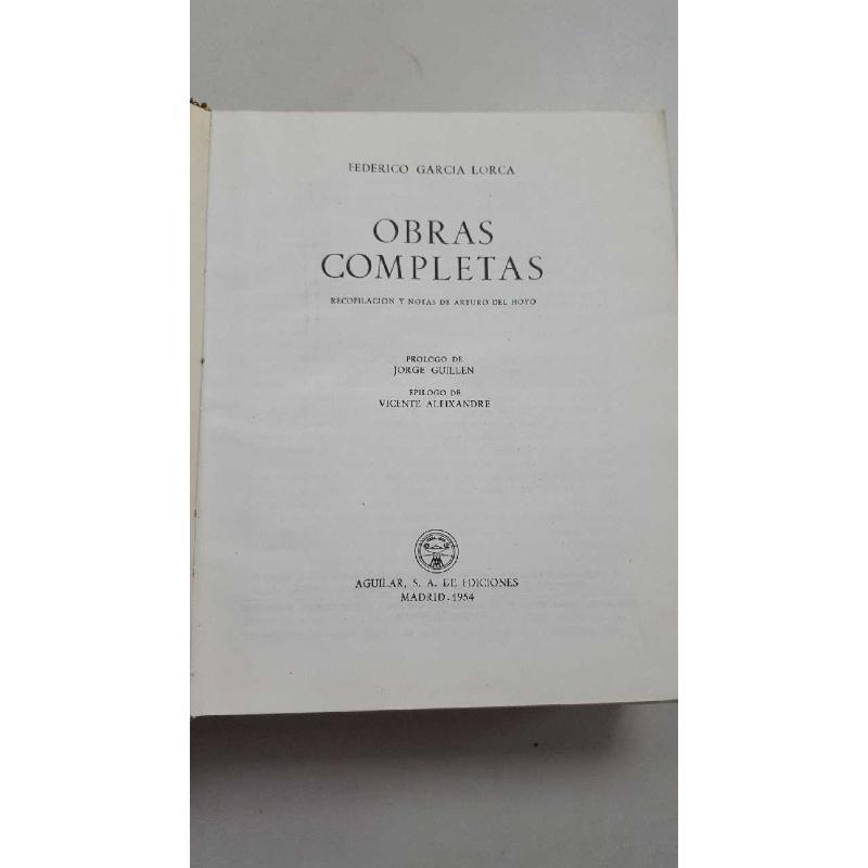 OBRAS COMPLETAS LORCA 1954 | Mercatino dell'Usato Roma porta di roma 2