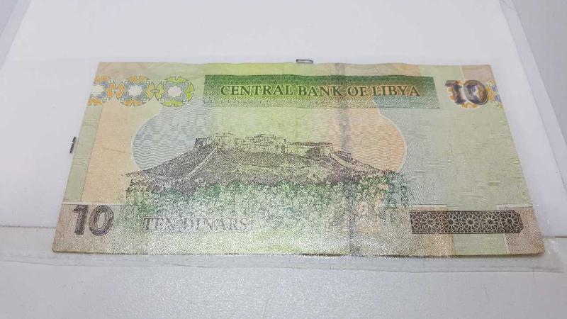 BANCONOTA 10 DINARA LIBIA   Mercatino dell'Usato Roma casalotti 4