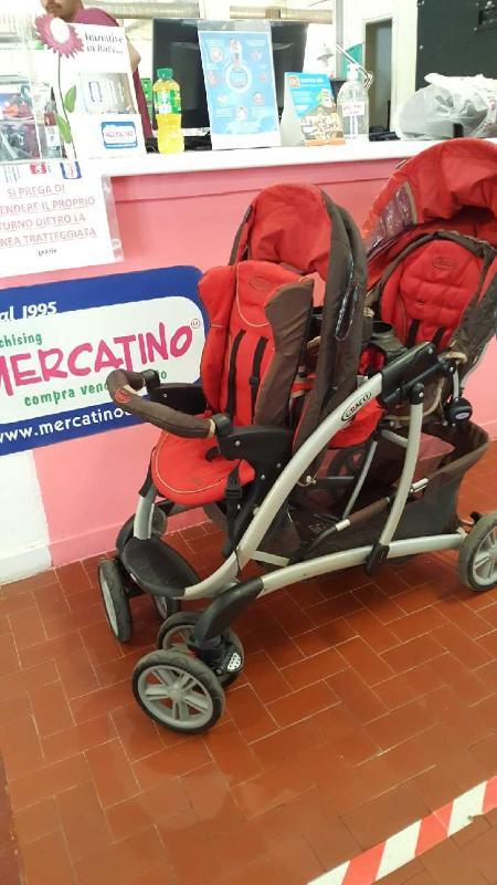 PASSEGGINO DOPPIO GRACO MARRONE/ROSSO   Mercatino dell'Usato Roma casalotti 1