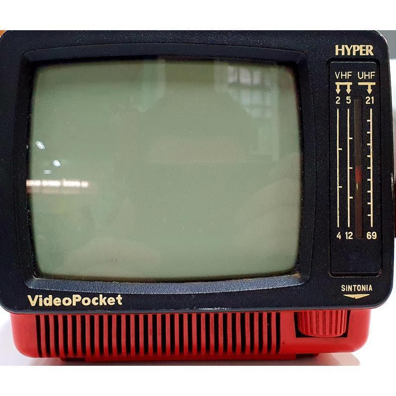 TV VINTAGE VIDEOPOCKET HYPER ROSSO   Mercatino dell'Usato Pomezia 1