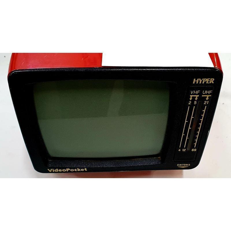 TV VINTAGE VIDEOPOCKET HYPER ROSSO   Mercatino dell'Usato Pomezia 2
