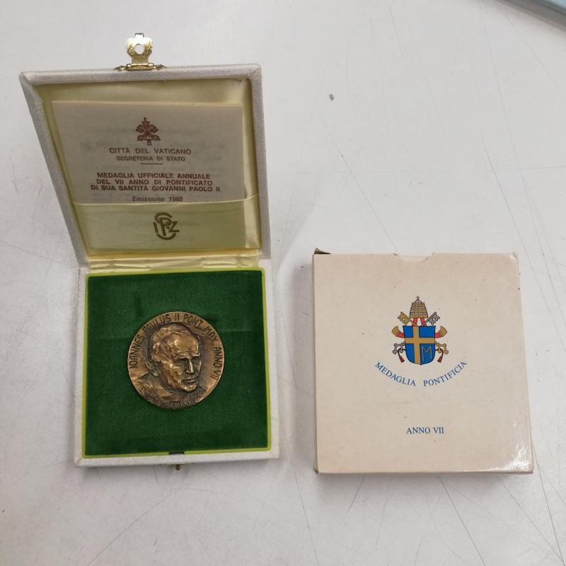 MEDAGLIA 1985 PONTIFICATO GIOVANNI PAOLO II | Mercatino dell'Usato Roma somalia 1