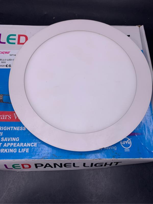 PANNELLO LED GRANDE TONDO 18W | Mercatino dell'Usato Civitavecchia 1