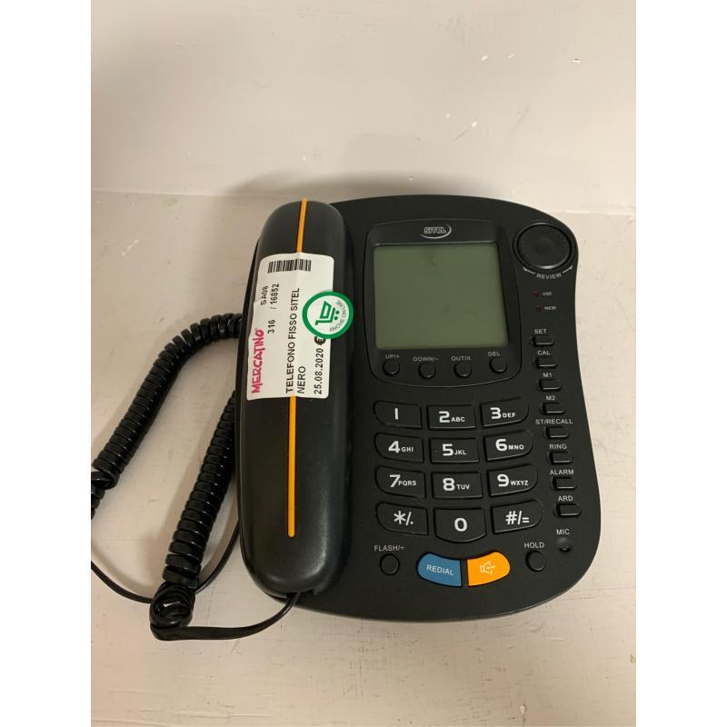 TELEFONO FISSO SITEL NERO  | Mercatino dell'Usato Pontecagnano faiano 1