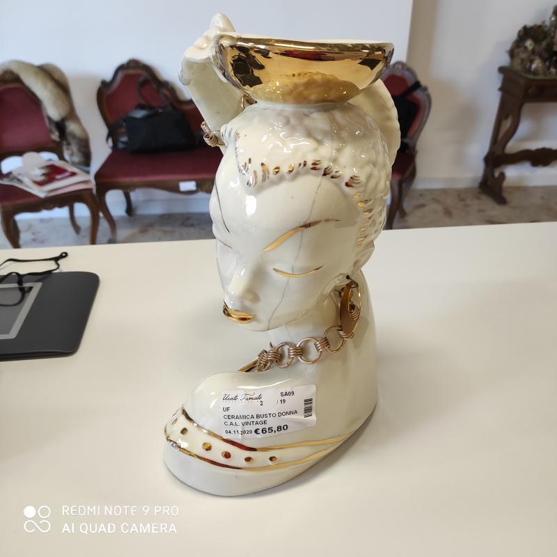 CERAMICA BUSTO DONNA C.A.L. VINTAGE   Mercatino dell'Usato Salerno torrione 2