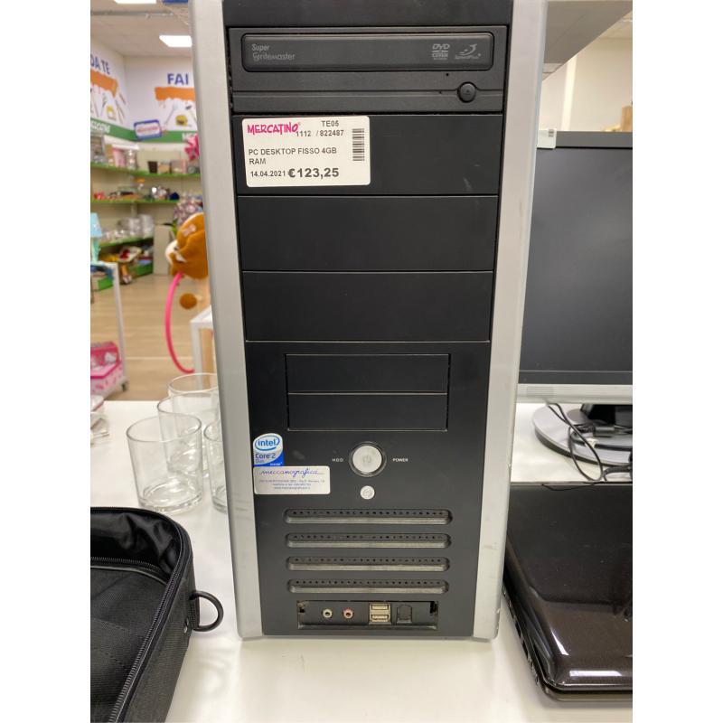 PC DESKTOP FISSO 4GB RAM    Mercatino dell'Usato Teramo 1