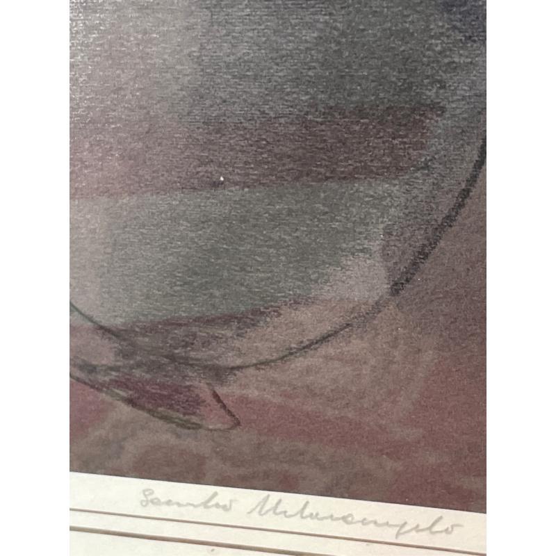 LITOGRAFIA SANDRO MELARANGELO 270/280 DONNA DI SCHIENA 80X60 | Mercatino dell'Usato Teramo 3
