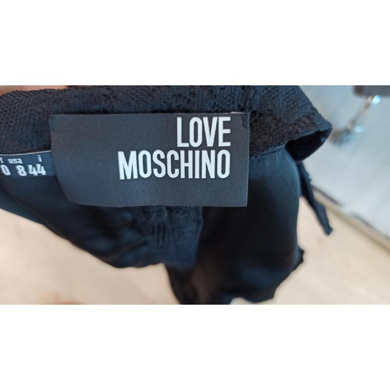 CARDIGAN DONNA LOVE MOSCHINO NERO PIZZO MANICA CORTA | Mercatino dell'Usato Teramo 5