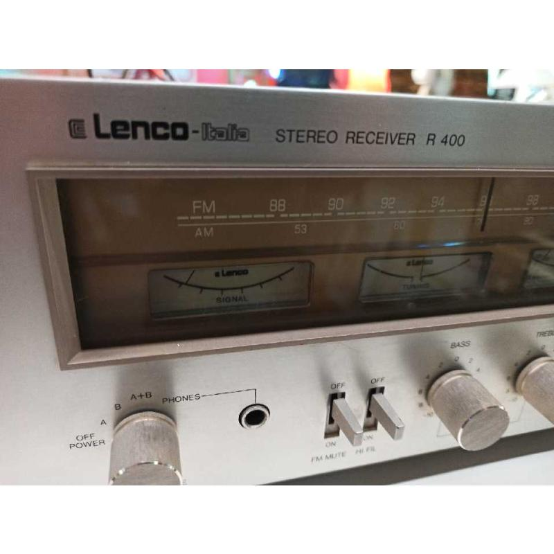 AMPLIFICATORE LENCO R400 USATO VINTAGE ORIGINALE  | Mercatino dell'Usato Teramo 3