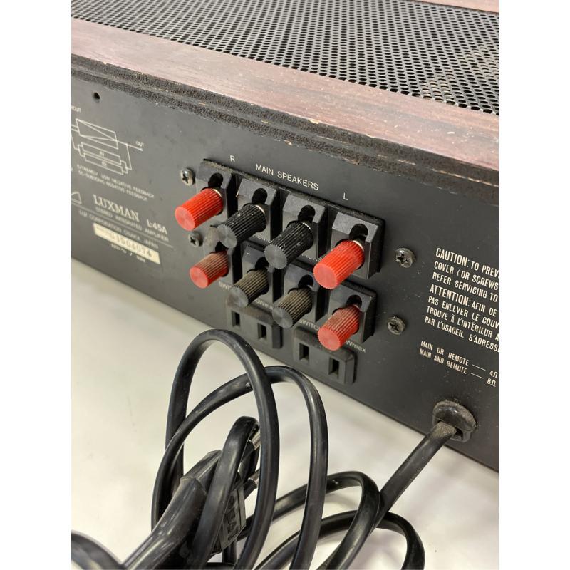 AMPLIFICATORE LUXMAN L 45 A JAPAN PERFECT   Mercatino dell'Usato Teramo 3