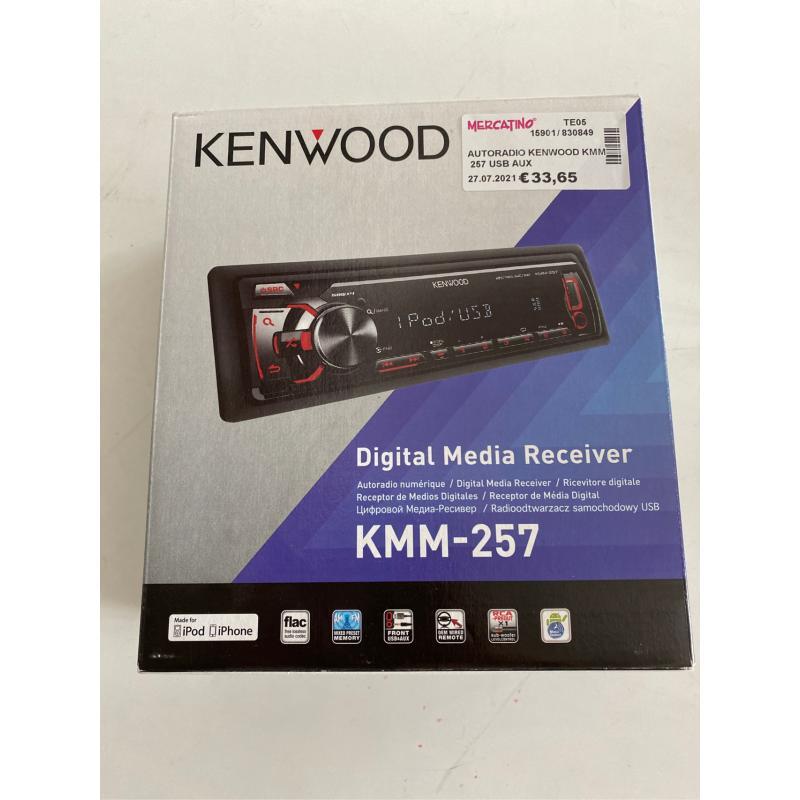 AUTORADIO KENWOOD KMM 257 USB AUX | Mercatino dell'Usato Teramo 1