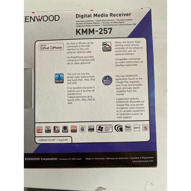AUTORADIO KENWOOD KMM 257 USB AUX | Mercatino dell'Usato Teramo 2