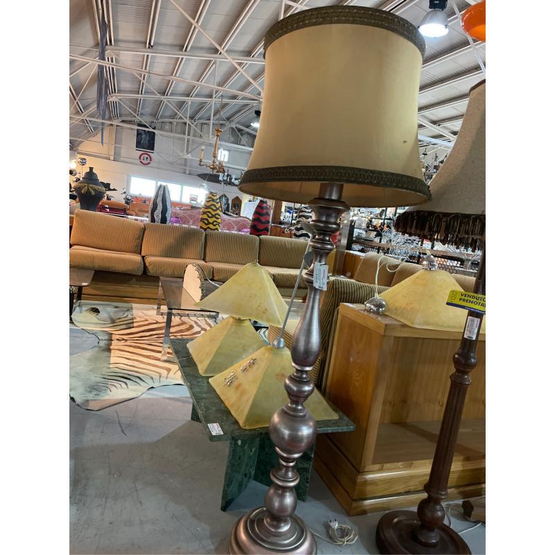 LAMPADA PIANTANA ARGENTATA LEGNO CON PARALUME  | Mercatino dell'Usato Teramo 4