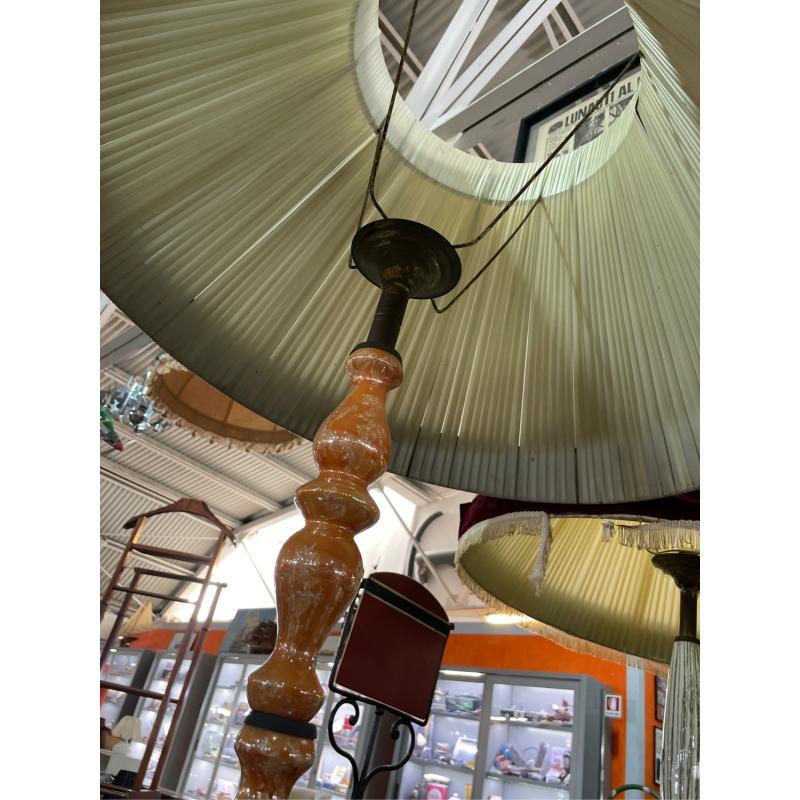 LAMPADA PIANTANA CERAMICA ARANCIO CAPPELLO   Mercatino dell'Usato Teramo 3