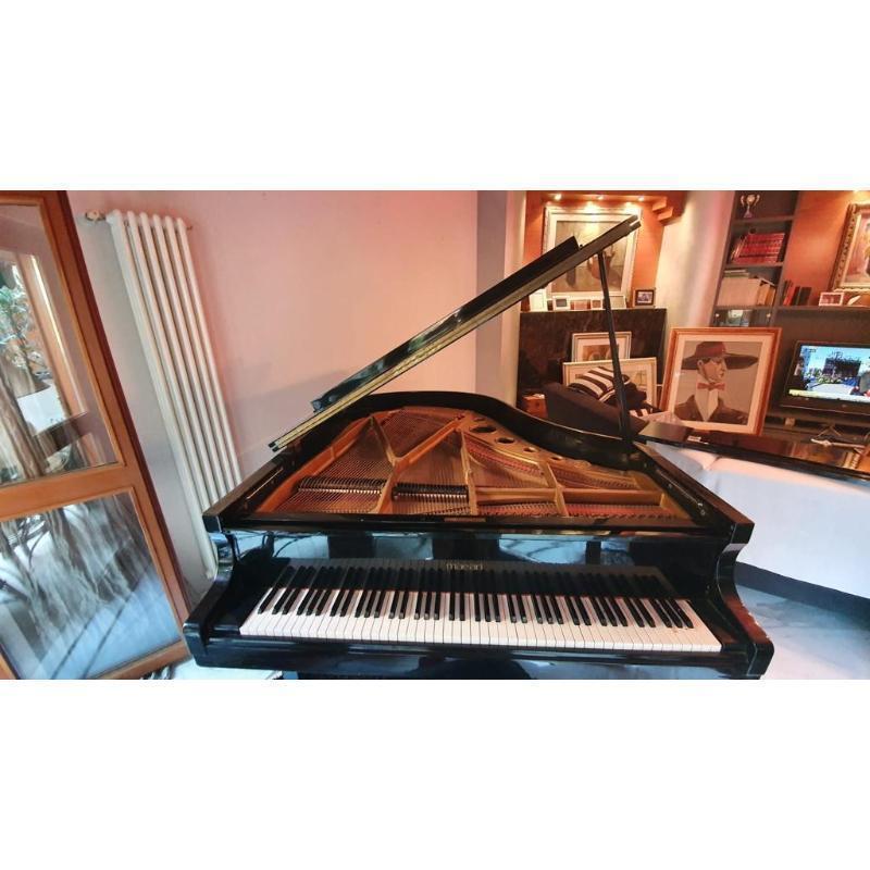 PIANOFORTE MEZZA CODA MAEARI INTERNO HYUNDAI COD. 810309 LACCATO NERO CON SGABELLO | Mercatino dell'Usato Teramo 2