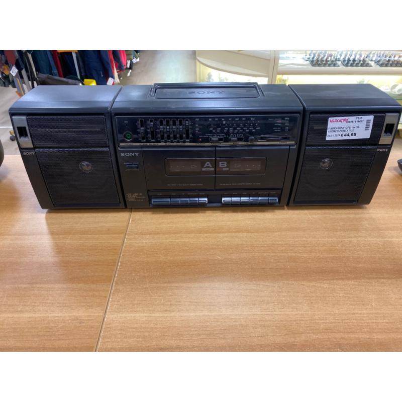 RADIO SONY CFS-W410L STEREO PORTATILE BOOMBOX RADIO REGISTRATORE    Mercatino dell'Usato Teramo 1