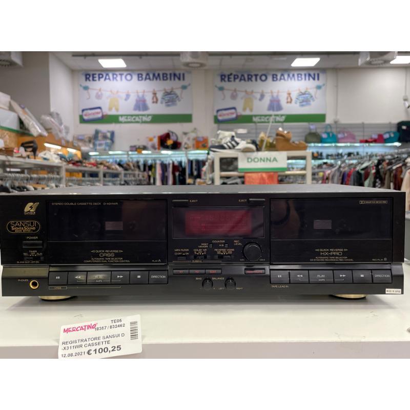 REGISTRATORE SANSUI D-X311WR CASSETTE DECKNERO MADE IN JAPAN | Mercatino dell'Usato Teramo 1