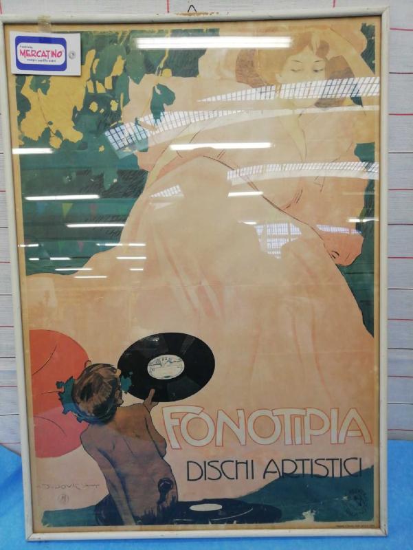 MANIFESTO PUBBLICITARIO FONOTIPIA | Mercatino dell'Usato Moncalieri bengasi 4