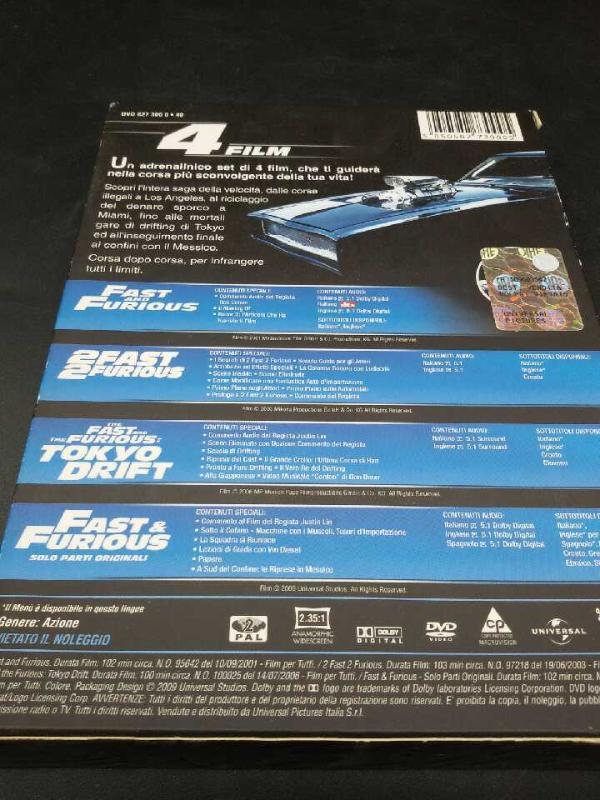 DVD 4 FILM FAST & FURIOUS | Mercatino dell'Usato Moncalieri bengasi 2